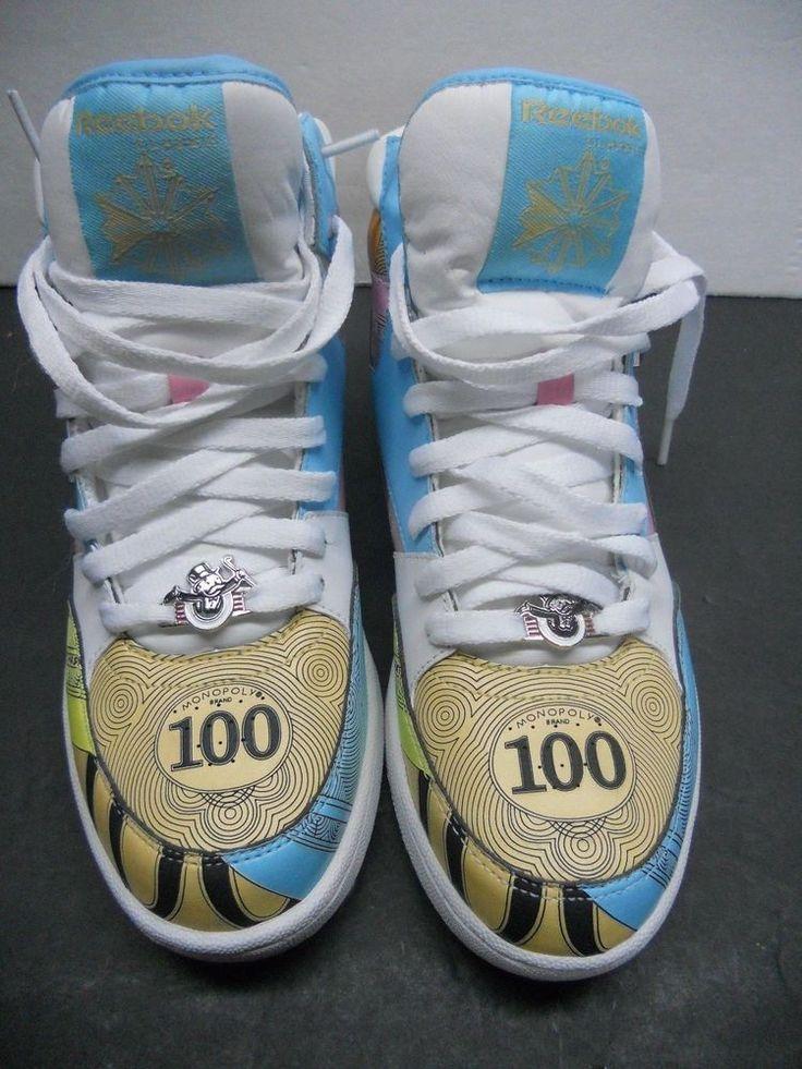 9dec70f611e955 ... Reebok Reverse Jam Mid Monopoly Money Edition Money Bags Size 8  Excellent Reebok BasketballShoes Ads4everyone Pinterest ...