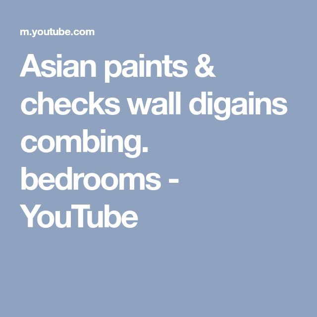 Asian paints & checks wall digains combing. bedrooms - YouTube