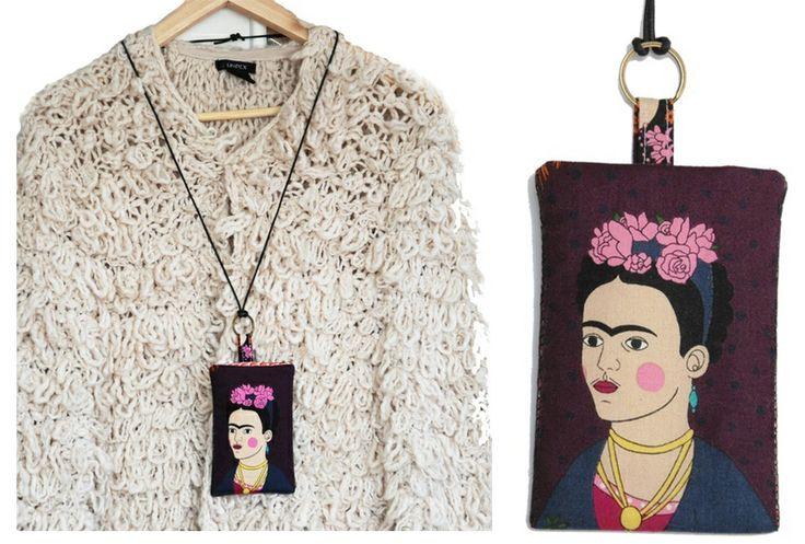 Frida Kahlo mobile bag