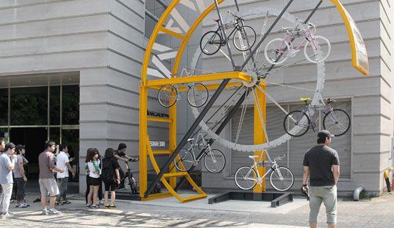 multi-storey Bike Hanger bikehanger by manifesto architecture