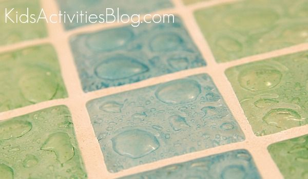 bubble tile in sea foam green and blue