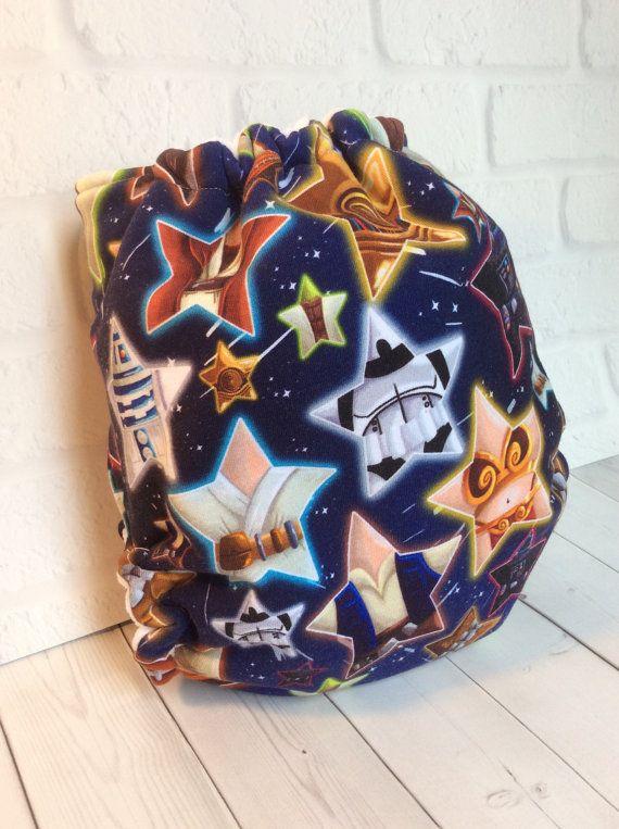 Star Force hybrid hidden fleece pocket cloth by BraveAsABear