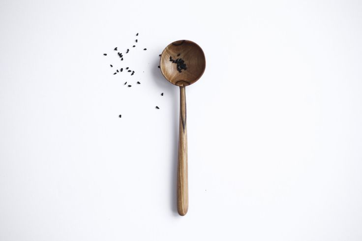 SALE Walnut spoon Wooden spoon Serving utensil by belayahvoya