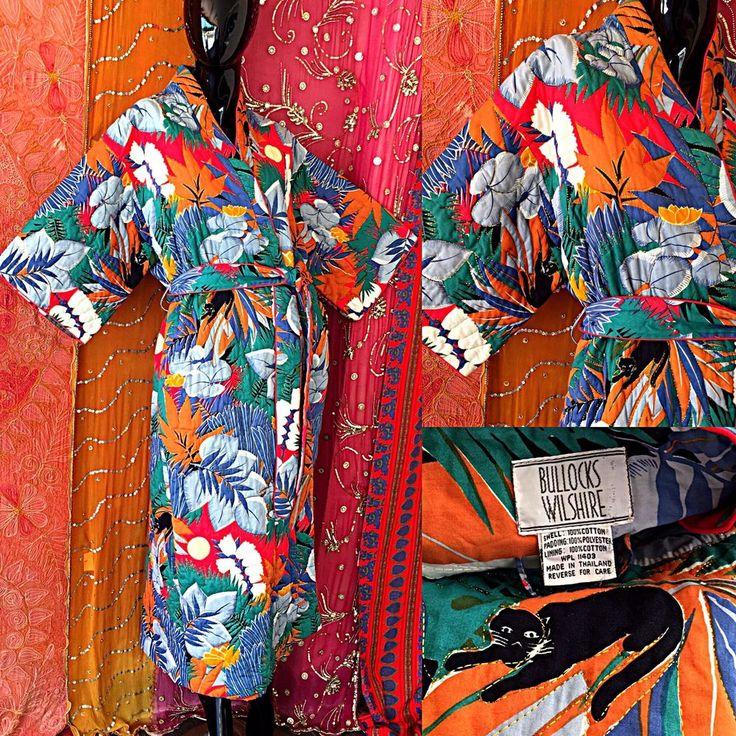 Vintage 70s Psychedelic Star Of Siam Kimono Thai Metallic Caftan Hippie Festival  | eBay
