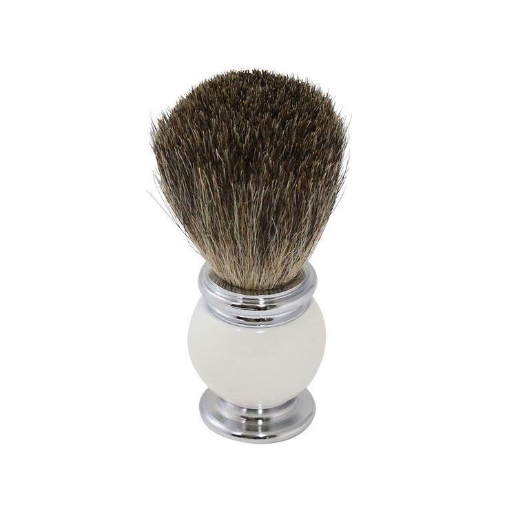 Bey-Berk Pure Badger Shaving Brush, White