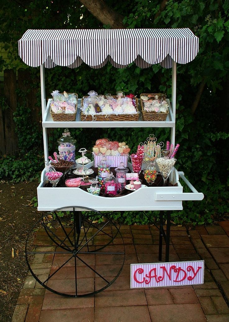 Candy/Dessert cart for weddings/sweet 16 and special events ShariesCandyBuffets.com Sacramento,Ca