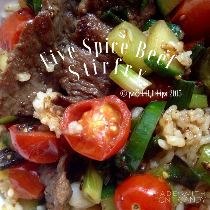 Five spice beef stirfry