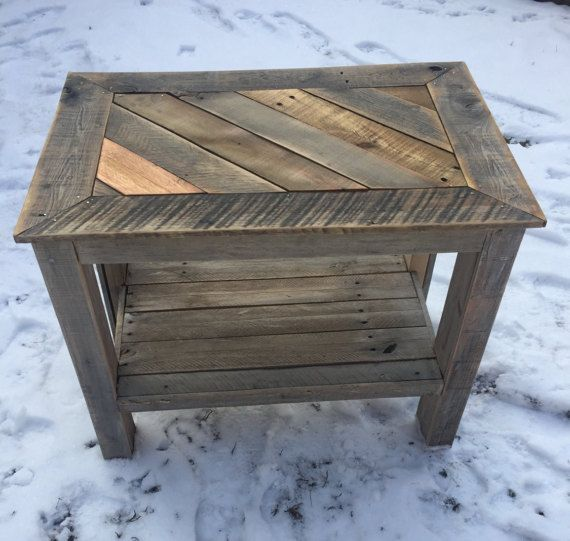 Rustic Wood Pallet Coffee Table: Recycled Pallet Coffee Table By PalletKrate On Etsy