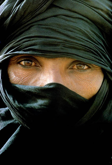 Niger. Sahara Desert. Noble Tuareg nomad man of the Kel Rela tribe.