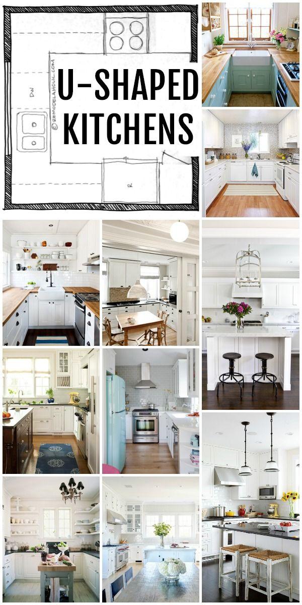 KITCHEN DESIGN | Horseshoe Kitchen Layouts via Remodelaholic.com