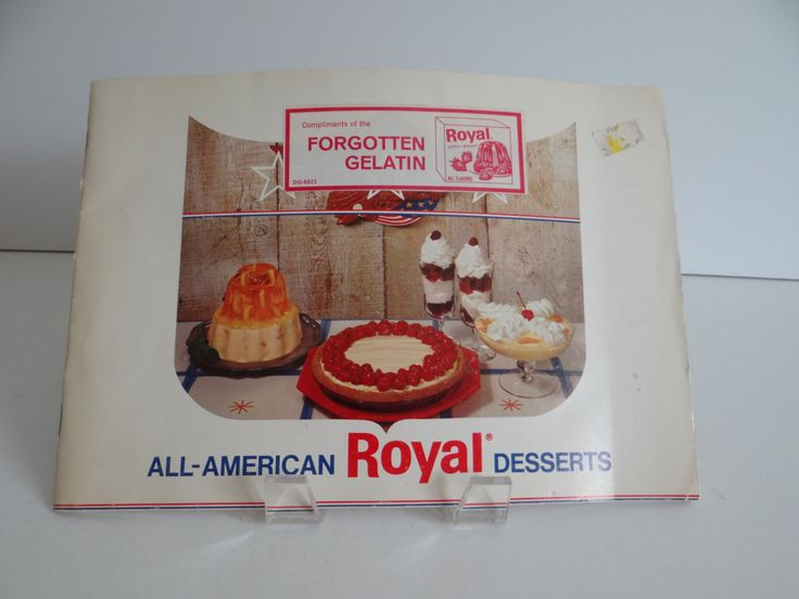 All American Royal Desserts Recipe Pamphlet - Jello Pudding Pie Custard Recipes by SecondWindShop on Etsy