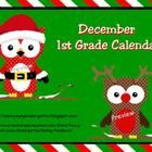 December 2013 Calendar has 47 pages of fun activities including a calendar, weather graph, counting the number of days in school, color words, coun...