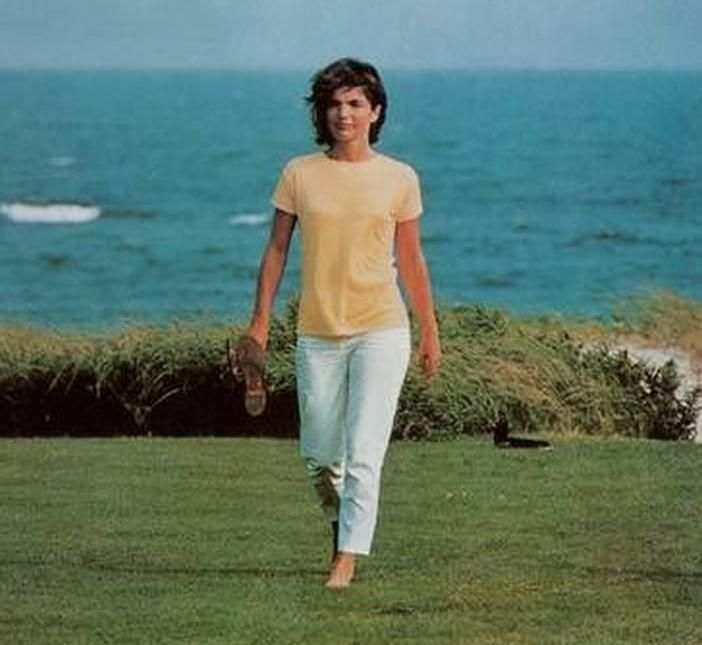 Jackie at the Kennedy compound in Hyannis Port, Cape Cod, the Summer after JFK was assassinated.