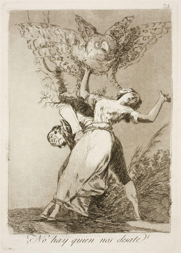 Francisco Goya - Caprichos - No. 75 - No hay quien nos desate, 1798. Etching with aquatint, engraving, drypoint.
