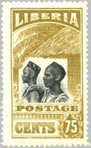 Stamp: Mandingues (Liberia) (Country Symbols 1918 Issue) Mi:LR 162,Yt:LR 149