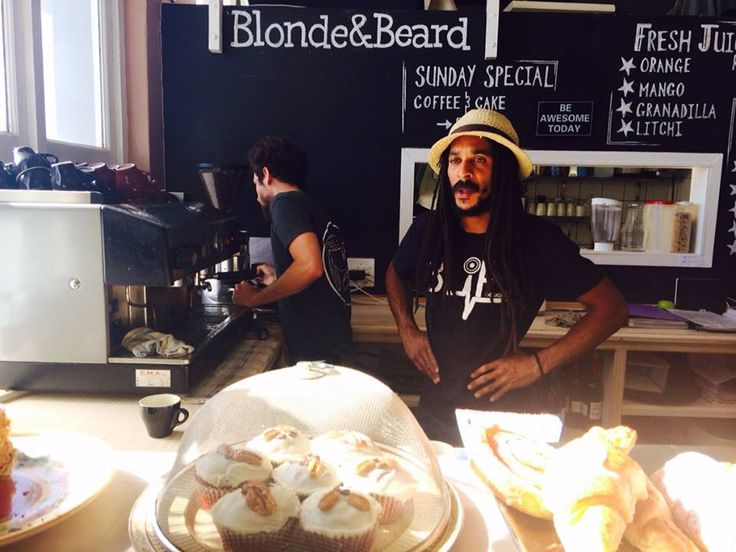 "Blond & Beard coffee shop - Muizenberg - Cape Town. Serving ""Bean There""  coffee - Blonde&Beard is a full service restaurant/cafe located in the heart of Muizenberg. The restaurant features a full breakfast and lunch menu.  25 Balmoral Building, Beach Road /  021 788 1569 / https://www.facebook.com/BlondeAndBeard/info?tab=overview"