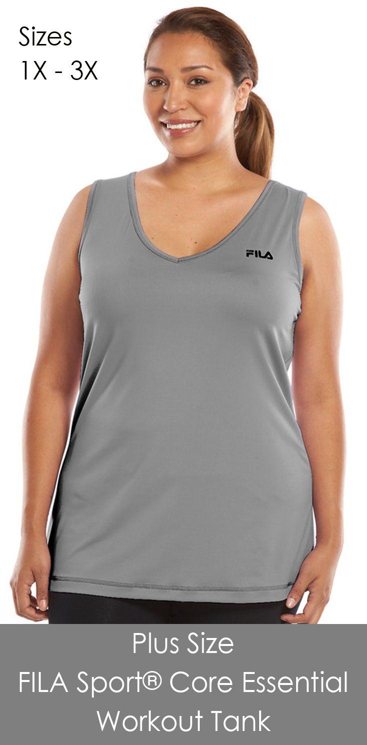 be3505d64d1 Plus size semi-fitted workout tank. FILA SPORT Plus Size FILA Sport® Core
