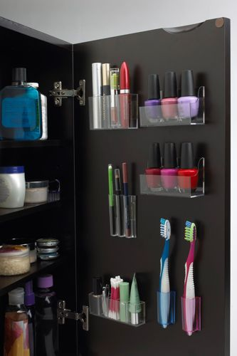 """Organization is key. In fact, I believe it's the first step to ensuring a small space lives up to its potential. This means closet organization is a must. I always tell clients to 'edit, edit, edit.' [Everyone] needs to de-clutter and get rid of little odds and ends."" MagnaPods StickOnPods Organizer Set, $9.99, available at PodsStore."