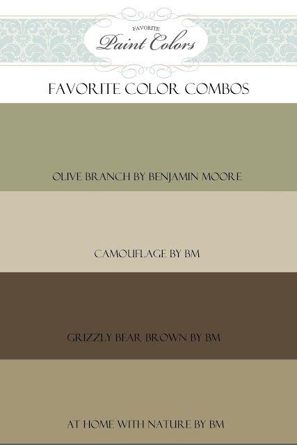 Favorite Paint Colors: Olive Branch Color Combo