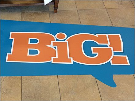 Save Big Floor Graphic Speech Balloon