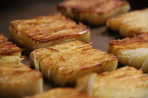 I'm always looking for new potato recipes and this potato terrine (pave) looks so good.