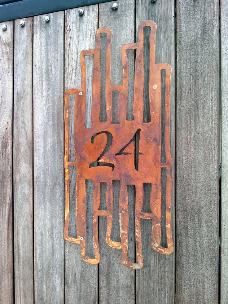 CUSTOM Asian Garden Bamboo House Number Sign