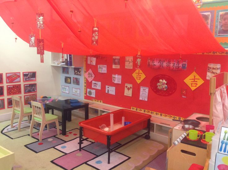 Young Nursery- Chinese restaurant role play , supports Chinese New Year.