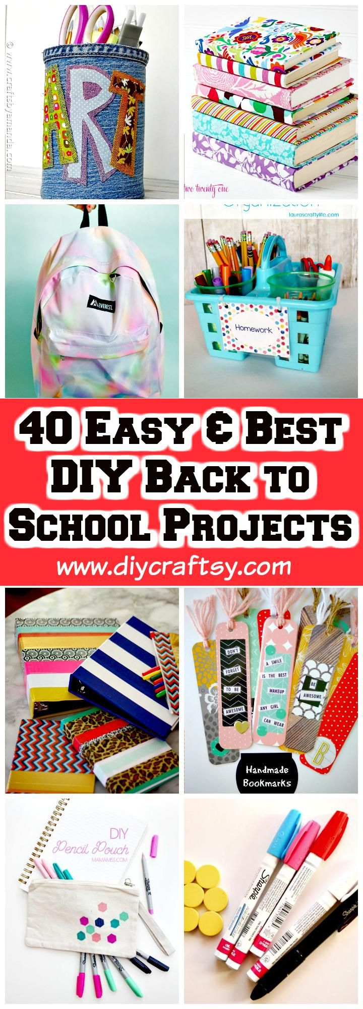 40 Easy & Best DIY Back to School Projects - DIY & Crafts
