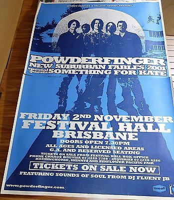 POWDERFINGER. SUBURBAN FABLES TOUR. 2001. 2 x Sheet Billboard Poster. Fri 2 Nov Festival Hall Brisbane. 152 x 102cm. Click Pic to find in eBay Store.