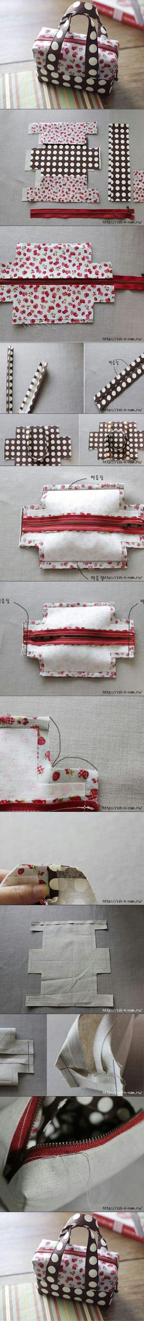 The Perfect DIY Cute Mini Fabric Tote - http://theperfectdiy.com/the-perfect-diy-cute-mini-fabric-tote/ #DIY, #Giftidea