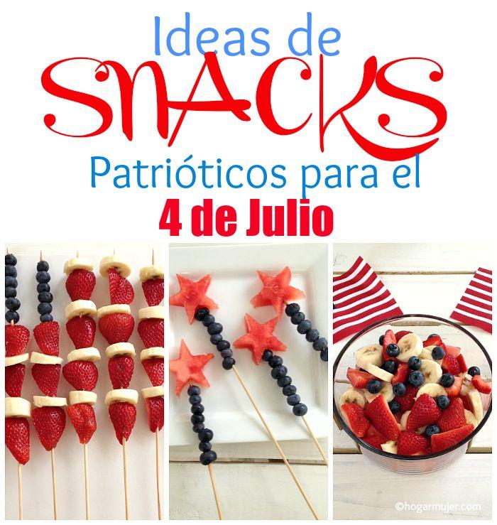 #snacks #4dejulio #4thofjuly #snackspatrióticos #postres #niños #verano #frutas