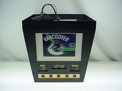 NHL HOCKEY SCOREBOARD VANCOUVER CANUCKS HANGING LIGHT FIXTURE