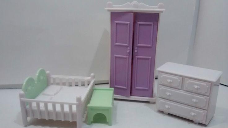Seven Towns Dollhouse Kitchen Furniture Stove Fridge Sink Wardrobes Drawer Opens | eBay