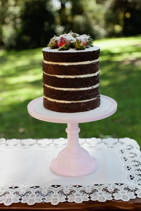 Vintage Inspired Chocolate Cake - Full details at StyledByMe.co