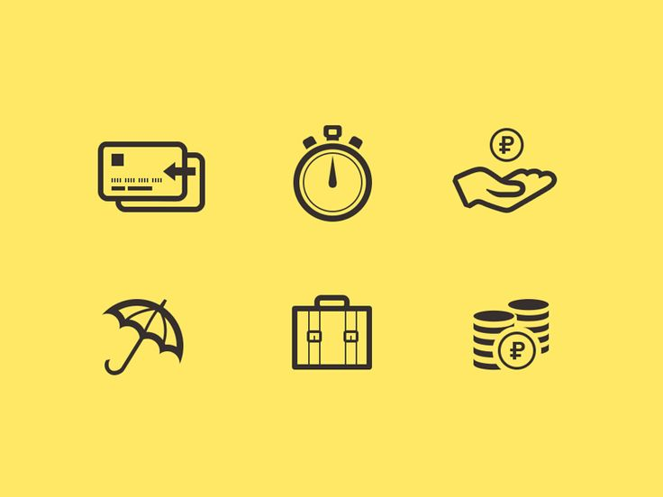 Icons for bank. Part 2