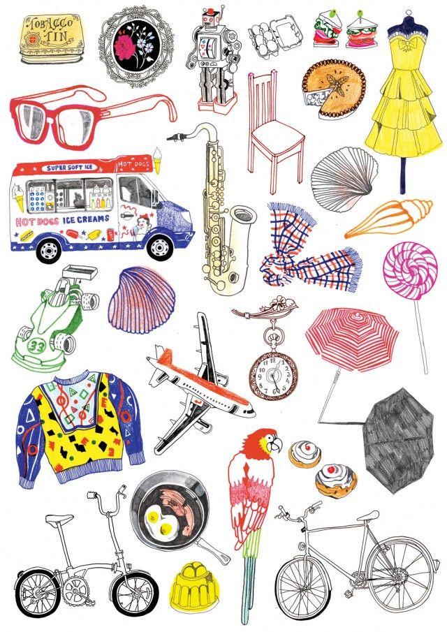 whimsical, stylish illustrations