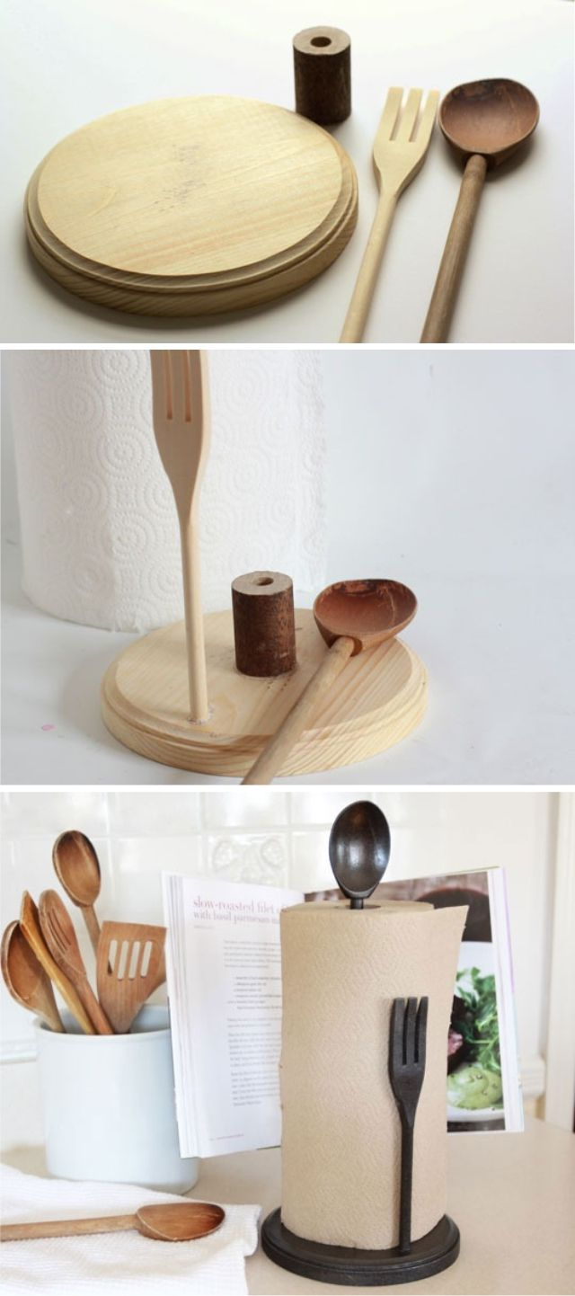 DIY Paper Towel Holder tutorial - Pottery Barn knock-off.