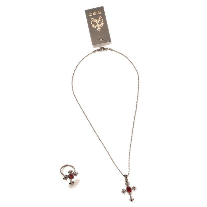 十字架ネックレス&指輪セット|ゴスロリ・ロリータファッション服の通販はワンダーウェルト