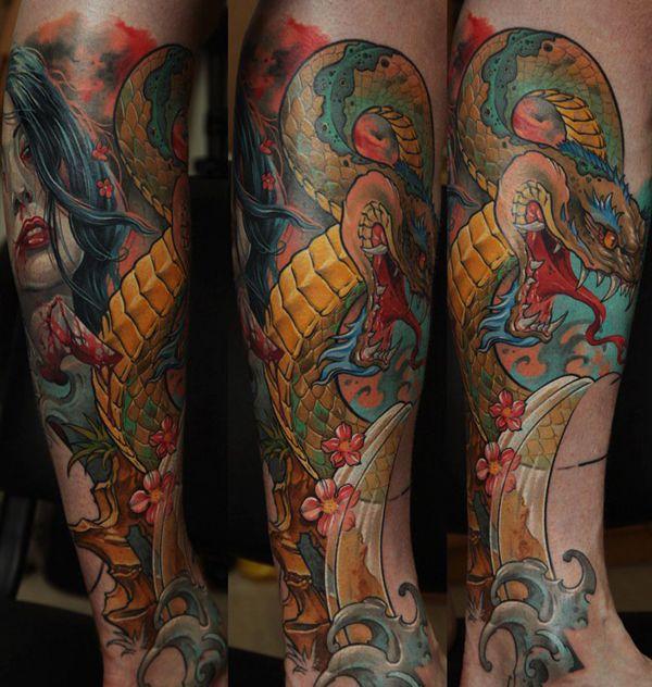 Dmitriy Samohin komt uit Odessa, Oekraïne, maar trekt tattooliefhebbers over de hele wereld aan, omdat hij zwaar gedetailleerde werken kan zetten.