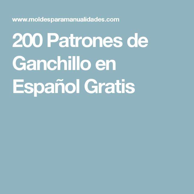 200 Patrones de Ganchillo en Español Gratis