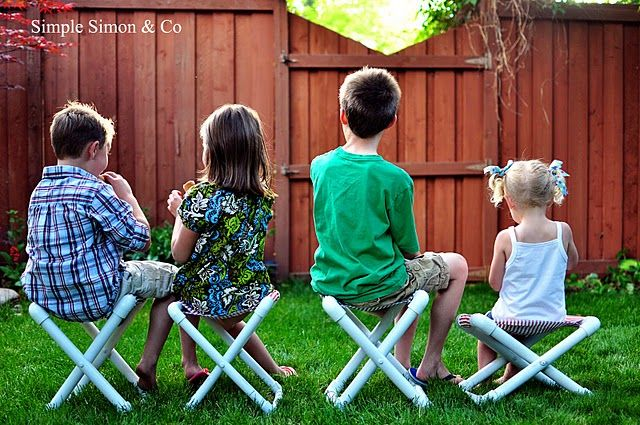Keep those bums off the ground and bring some extra seats! Here are some cute DIY summer camp chairs for kids.