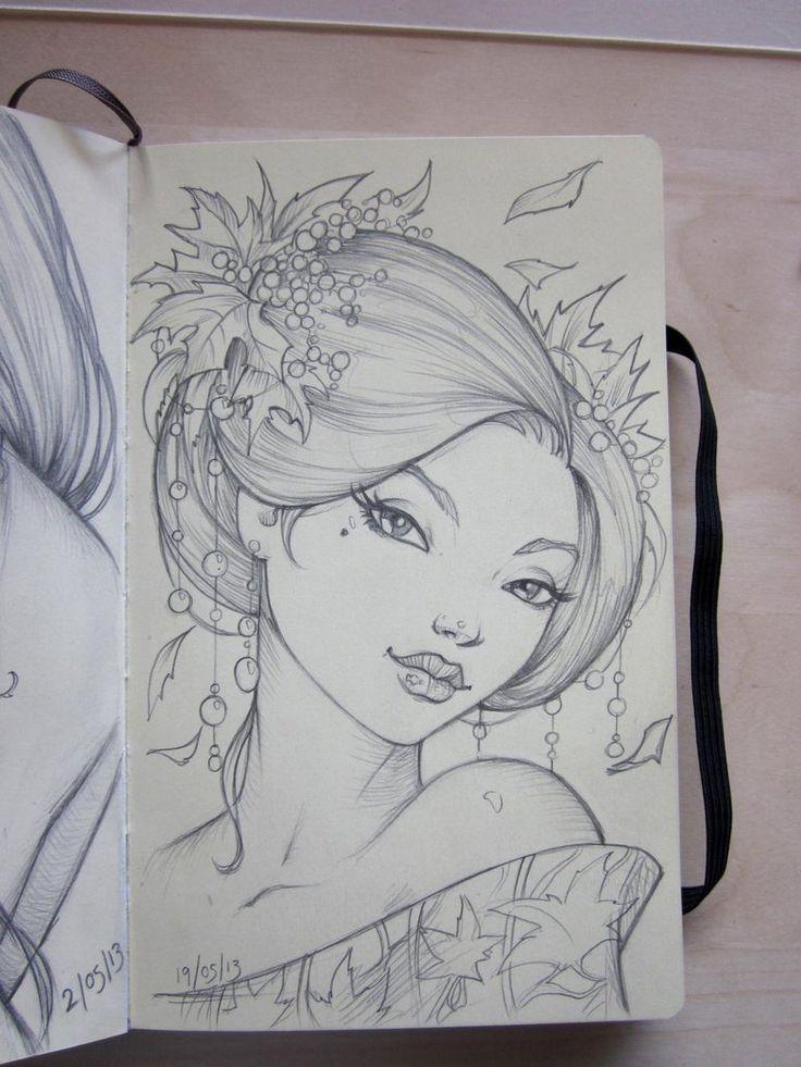 how to draw a girl half animal