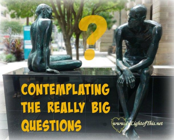 The big question of purpose, meaning, calling, and destiny