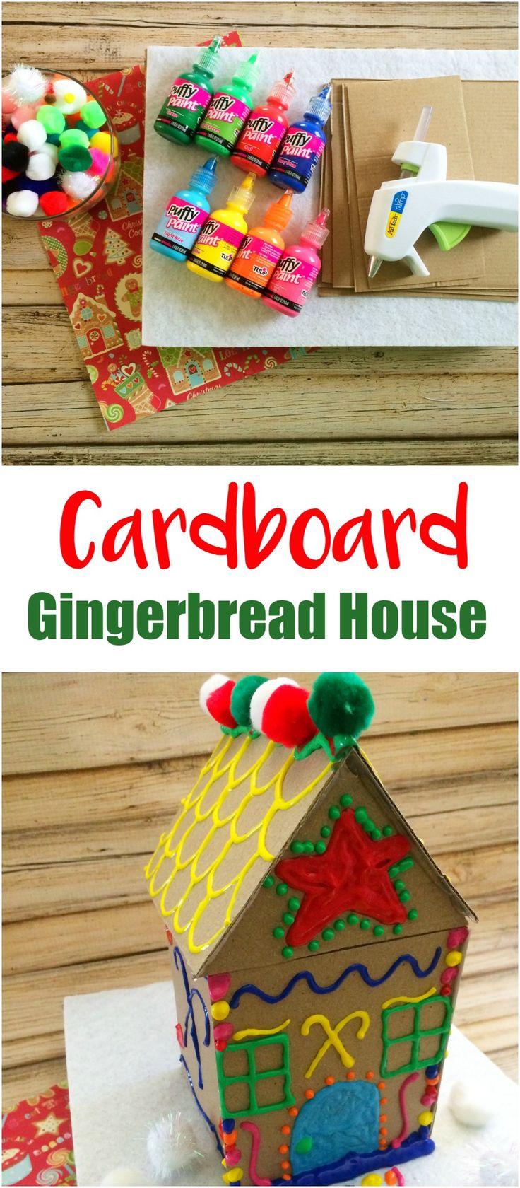 Make Your Own Cardboard Gingerbread House Crafts Make