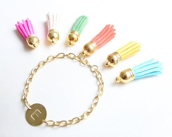 Personalized Bracelet With Tassel Custom by SweetAuburnStudio, $30.00