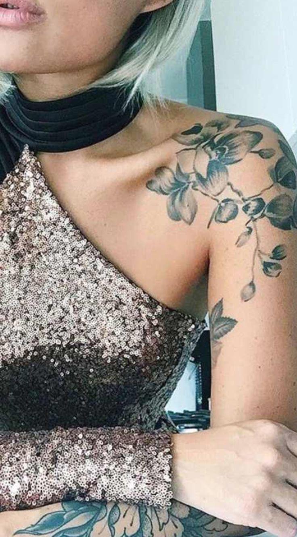 Einzigartige Blume Schulter Tattoo Ideen – Full Arm Sleeve Cherry Blossom Tatouage für …