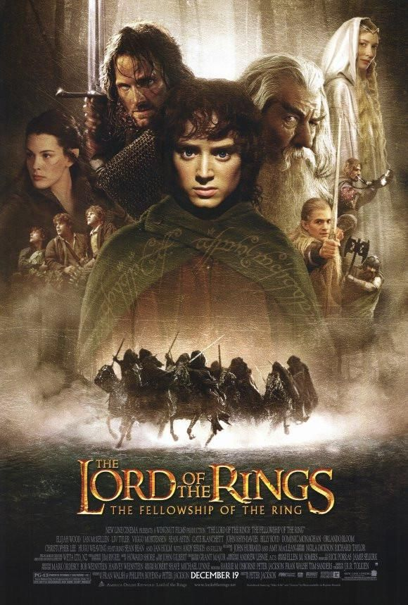 Lord Of The Rings 1 The Fellowship Of The Ring 27x40 Movie Poster 2001 Macera Filmleri Film The Lord