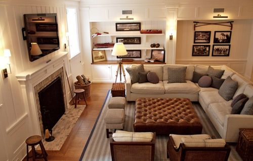 family room design with tv over fireplace | Family room ...