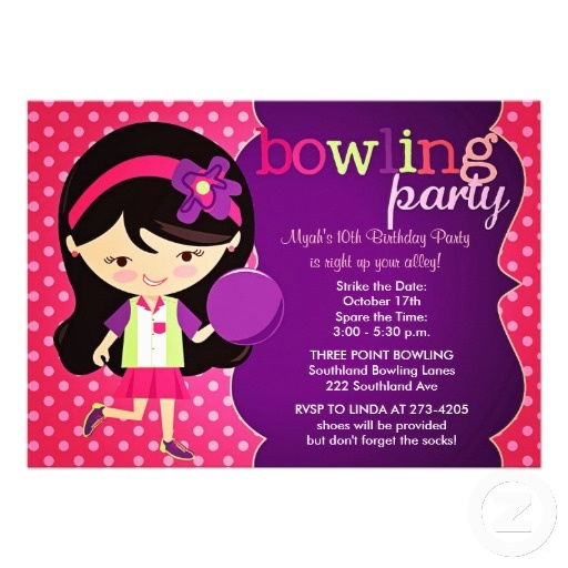 23 best Bowling Birthday Party Invitations images on Pinterest - best of birthday invitation card write up