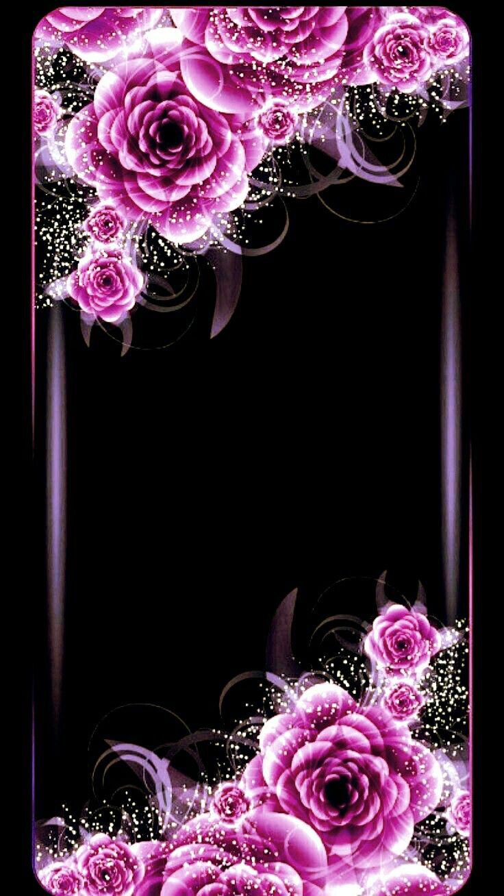 Wallpapers For Iphone And Android Black Themes Click The Link Below For Tech News N Gadget Updates Flower Phone Wallpaper Purple Wallpaper Gothic Wallpaper